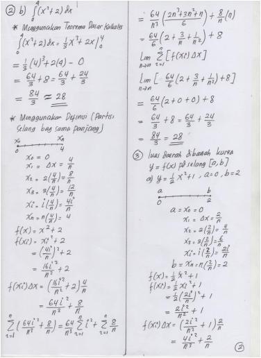 Jawaban Uts Kalkulus Ii 2 5 2011 Kelas Malam Taufiqur Rokhman
