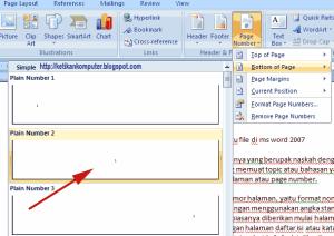 Cara Mengatur Nomor Halaman Dengan Format Berbeda Dalam Satu File Di Ms Word 2007 Taufiqur Rokhman