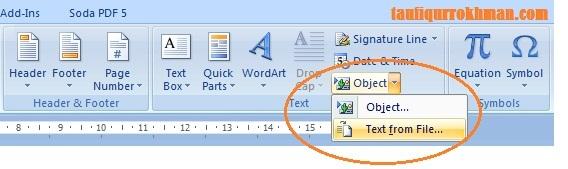 Menggabungkan Beberapa Dokumen Terpisah Menjadi Satu Dokumen Pada Ms Word 2007 2010 Taufiqur Rokhman